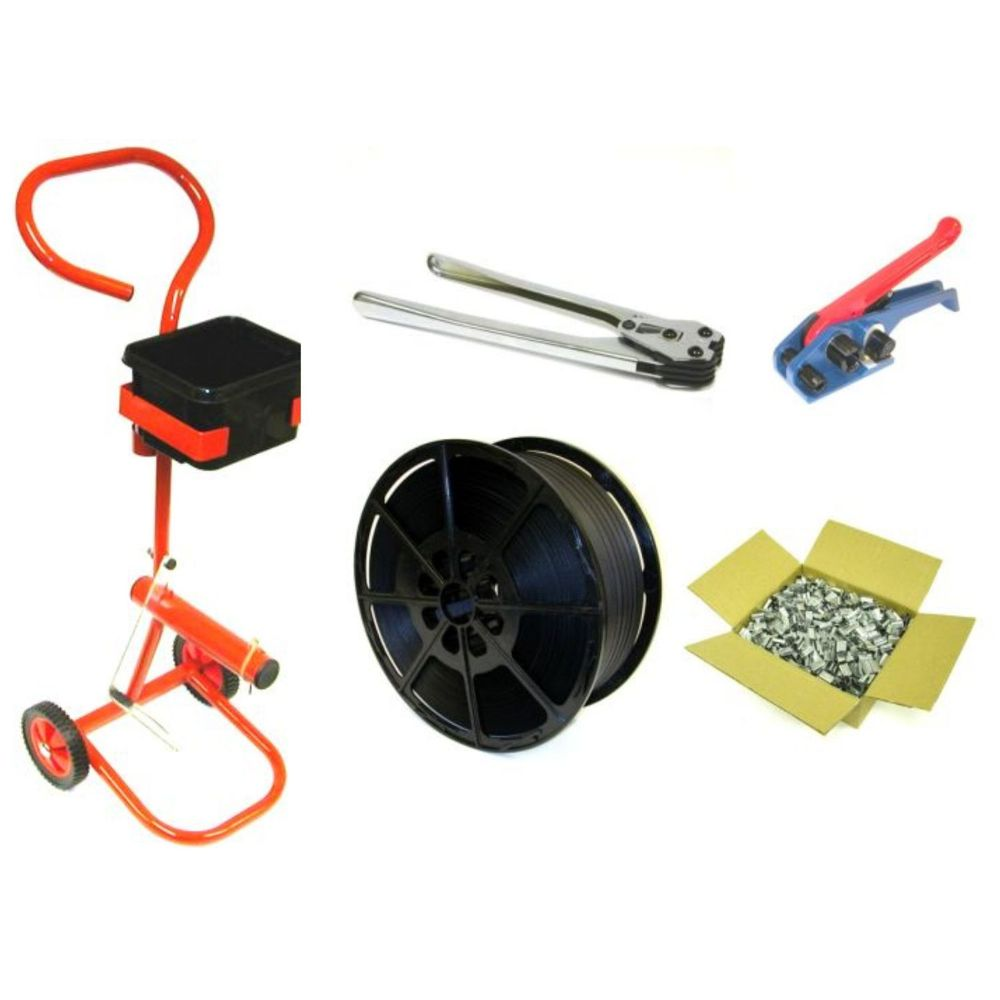 Hand Strapping Kit With Mobile Trolley Tools Strapping